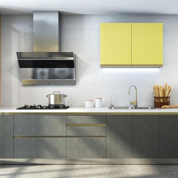现代厨柜石英石台面